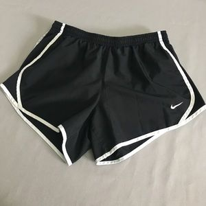Nike black running shorts
